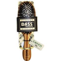 Brush - Medium Oval Cushion 100% Wild Boar/Nylon Bristle Wood Handle Bass Brushes 1 (Nylon Bristle Cushion)