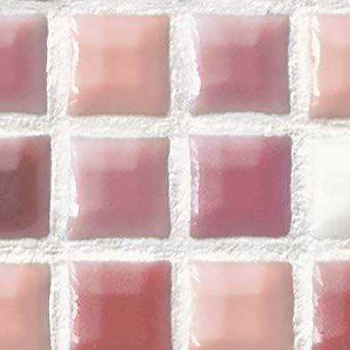 メラミン化粧板 バリエーション LJ-10162K 4x8 スクエアモザイク(レッド)
