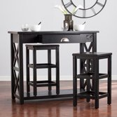 Southern Enterprises Colfax 3 Piece Counter Height Breakfast Table Set