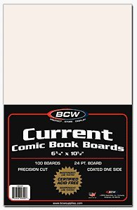 Current Comic Book Backing Boards