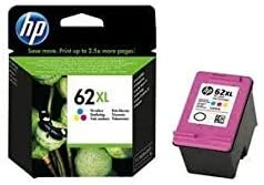 HP C2P07AE 62XL Cartucho de Tinta Original de alto rendimiento, 1 unidad, tricolor (cian, magenta, amarillo)