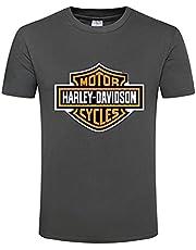 FXZFYYY Harley Davidson klassisk logo t-shirt för män kortärmad t-shirt herr rund hals herr t-shirt