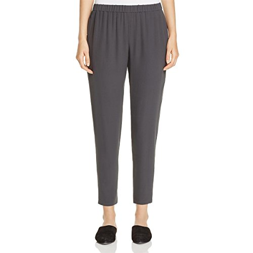 Eileen Fisher Womens Silk Slouchy Ankle Pants Gray (Eileen Fisher 100% Silk)