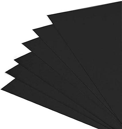 Cubiertas para encuadernación de tarjetas en relieve de cuero Black/Pack of 100: Amazon.es: Oficina y papelería