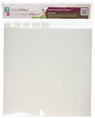 Totally-Tiffany SA06 ScrapRack Paper Storage Box Tabbed Divider, 12.5 by 12.5-Inch, ()