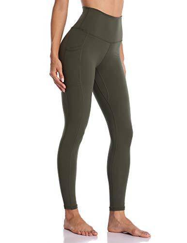 Colorfulkoala Women's High Waisted Yoga Pants 7/8 Length Leggings with Pockets(XL, Olive - Shop Olive