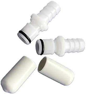 2 Caps for Testing Sleep Number Bed Air Chamber leaks N//A Yan Parts Shop Replacement 2 M236 Male Connectors