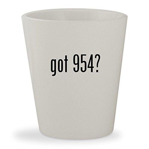 got 954? - White Ceramic 1.5oz Shot - Rb 954 2140