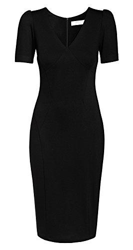 Damen von der Kleid Möller aus Business Classic schwarz TV Annett Kollektion Victoria AMCO Schwarz fashion Star Svwq0t5