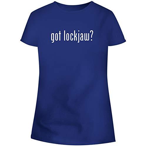 Lock Jaw Pole - One Legging it Around got Lockjaw? - Women's Soft Junior Cut Adult Tee T-Shirt, Blue, X-Large