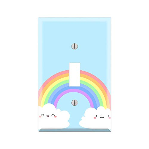 RAINBOW Light Switch Cover Wall Plate, RAINBOW Graphics Wallplate, Outlet Cover, Single Toggle, Single Rocker, Outlet Cover, Gift for Rainbow Lover, RAINBOW Room Decor, RAINBOW Wall Plate Cover -