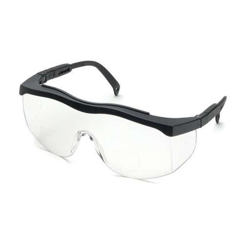 Price comparison product image Elvex RX-100-2.0 Safety Reading Glasses,  +2.0 Diopter,  Polycarbonate,  Clear Lens,  Black Frame