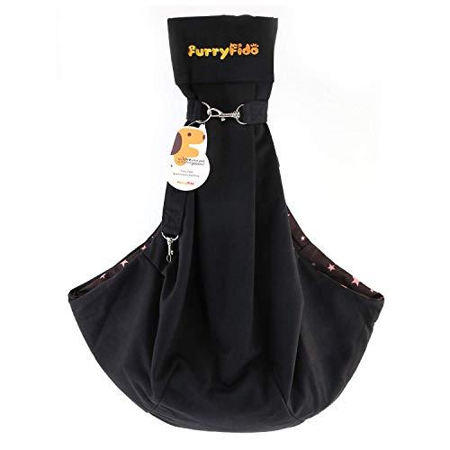 Furry Fido Black Classic Pet Sling