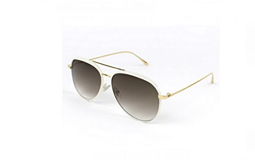 JIMMY CHOO White & Gold RETO/S OONR Aviator Sunglasses - Sunglasses Deals And Steals