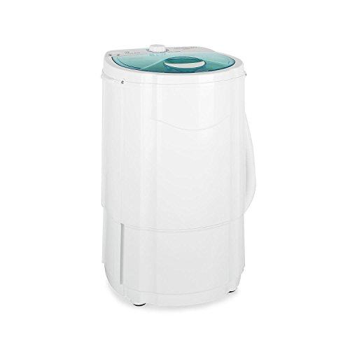 oneConcept SD001 Wäschetrockner Toploader Trockner Camping Wäscheschleuder klein (130W Schleuder, 3kg Wäsche-Kapazität, schneller Auf- und Abbau) weiß