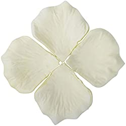 AshopZ 500pcs Artificial Silk Rose Flower Petals Wedding Party Decor Bulk Ivory