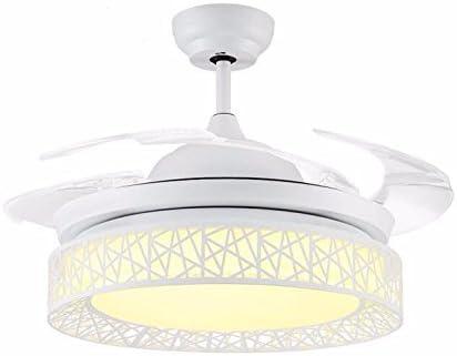 ZY * Ventilador de techo con dormitorio de la lámpara Ventiladores sigilosos Luces del ventilador Lámparas de techo Reguladores tricolor de 42 pulgadas Regulador de iluminación de control remoto Lámpa