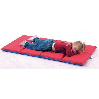Rest Mat (4 Section 24 x 48 x 2 - Red and Blue in 5 (Standard Rest Mats)