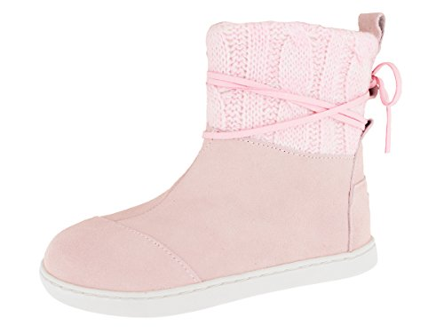 Girl's TOMS 'Nepal - Youth' Boot Pink Knit 12.5 M