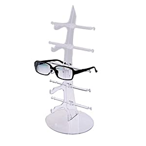 World Pride Sunglasses Rack Holder Glasses Display Stand (White)