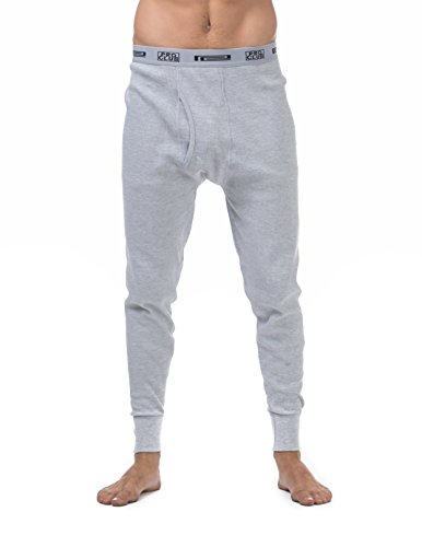 Pro Club Thermal Long Pants Underwear, 2X-Large, Gray