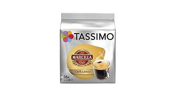 Tassimo Marcilla Cafe Largo - Cápsulas grandes para desayuno ...