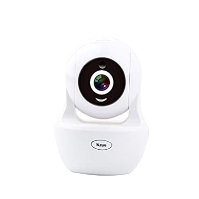 Wireless Camera 1080P HD Monitor Home Dome Camera N_eye Wifi Mobile Phone Outdoor Monitor Indoor Night Vision 360° Panorama?White? by Huachuang