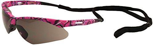 ERB Safety Products 15342 Annie Safety Glasses, Pink Camo Frame, Gray Lens, 6