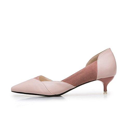 primaverili tacchi alti punta selvatici 5cm 42 banchetto sottili pallido di scarpe bare Rosa ed 4 Le colorato singole estivi bocca con q4BPwEx1