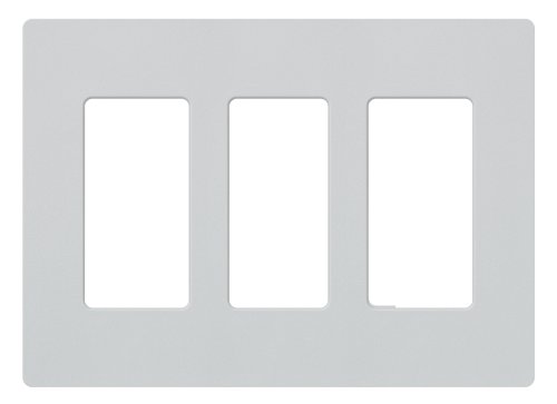 Lutron SC-3-PD Claro Three-gang Wallplate Palladium (Palladium Satin)