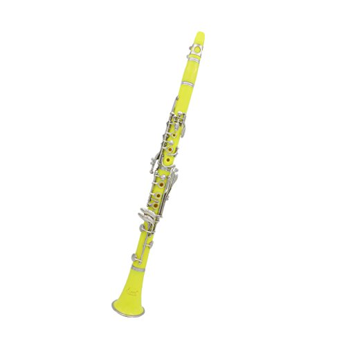 MagiDeal Lade 17 Keys Bb Clarinet Piezas de Instrumentos Musicales para Amante Músicas - Amarillo