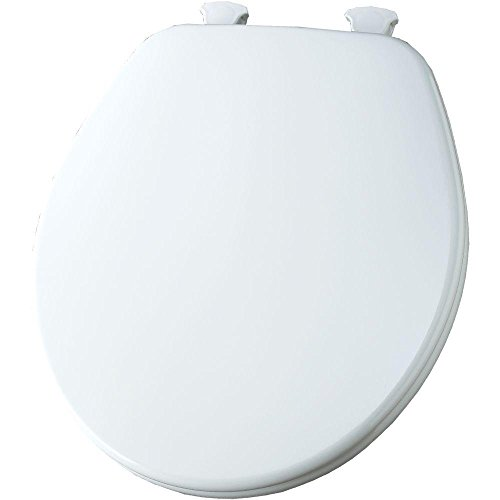 (Church 540EC 000 Wood Toilet Seat with Cover, White)