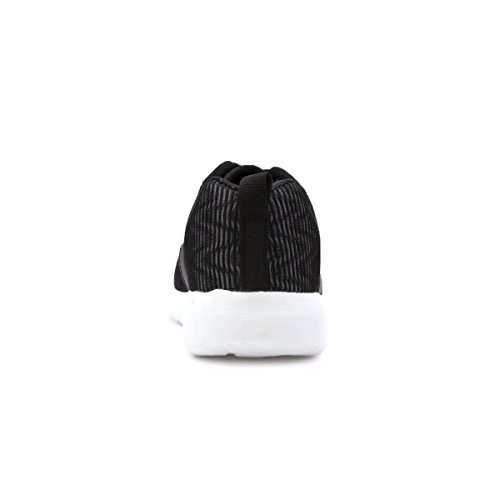 Lilley Womens Lace Black Up Sneaker Léger Noir