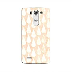 Cover It Up - Raindrops Print Orange LG G3 Hard Case