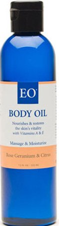 Body Oil Rose Geranium & Citrus 8 oz 7.50 Ounces