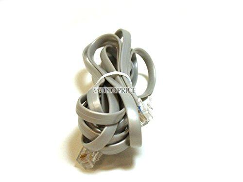 (Monoprice 100938RJ12 6P6C Straight Landline Telephone Cable, 7-Feet for Data)
