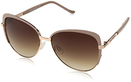 Rocawear Women's R573 Rgdnd Cateye Sunglasses, Rose Gold & Nude, 68 mm