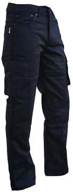 Bikers Gear UK Pantalone nero TREND Cargo con protezione KEVLAR e Impermeabile XL 36L