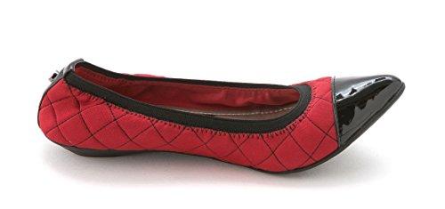 Anne Klein Frauen OFFERED Ballerinas, flach Red Multi Fabric