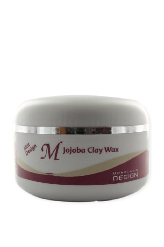 Mon Platin Professional 150ml Original Jojoba Clay Wax for Wild and Special Hair Styling Matt Designs by A.Meshi Industries
