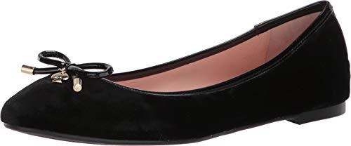 Kate Spade New York Women's Willa, Black Velvet/Patent, 10.5 M