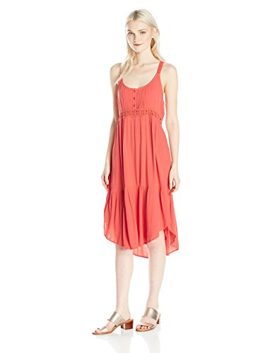 Volcom Junior's Summit Stone Loose Fitting Cami Dress, PSP, - Fittings An Summit