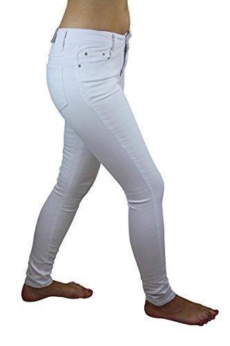 Den Básico Skinny 100 Blanco Vaqueros Celeb Mujer Look Para 7CqTvq1a