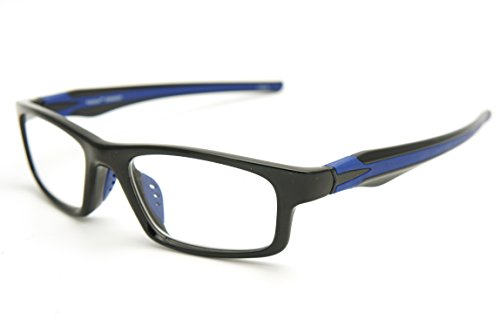 ColorViper Sports Double Injection Readers Flexie Reading Glasses (BLACK BLUE, - Reading Sport Men Glasses