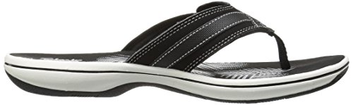 CLARKS Women's Breeze Sea Flip Flop, New Black Synthetic, 8 M US by CLARKS (Image #12)
