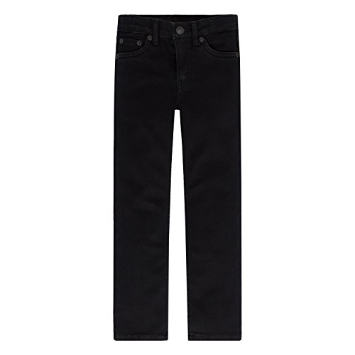 Arizona Boys Jean (Levi's Little Boys' Extreme Skinny Fit Jeans, Black Stretch, 6)