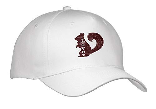 Janna Salak Designs Text Art - I Love Squirrels - Caps - Adult Baseball Cap (Cap_289674_1)