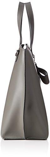 Chicca Borse 8866, Borsa a Spalla Donna, 40x33x15 cm (W x H x L) Grigio