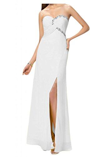 de elegancia de noche en novia madrinas fiesta blanco de de corazón cristal pedrería vestidos Toscana de de vestidos bola de de Gasa largo forma Prom pFEfqxpZw