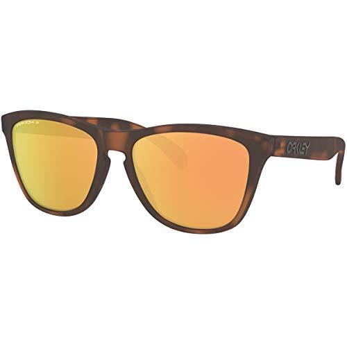 Oakley Men's Frogskins Sunglasses,OS,Matte Brown Tortoise/Prizm Rose Gold Polarized (Oakley Prizm Sonnenbrille)